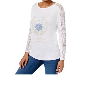 Jamie & Layla Lace Graphic T